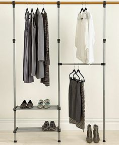 Whitmor Closet Organization System, Closet Rod - Cleaning & Organizing - for the home - Macy's Bridal and Wedding Registry Closet Bar, Walk In Closet, Closet Space, Closet Redo, Closet Ideas, Home Suites, Closet System, Space Saving Furniture, Closet Bedroom
