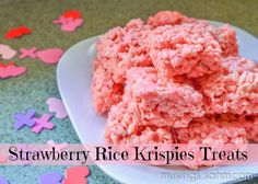 Strawberry Rice Krispies Treats for Valentine's Day