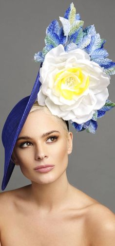 Cobalt Blue with White Yellow Roses Fascinator Headpiece Hat. Mother of the bride, or outfit for the races, Royal Ascot, Kentucky derby, Oakes Day, Grand National, Epsom derby. Aintree, Ascot, Melbourne Cup Oakes Ladies Day outfits. Floral Fashion Outfit ideas. Inspiration Day at the Races, wedding. Wedding Outfits #weddings #melbournecup #racingfashion #millinery #kentuckyderby #royalascot #ladiesday #fascinators #derbyoutfits #etsyfinds #derbyhats #affiliatelink #outfitideas #passion4hats