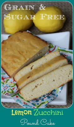 Lemon Zucchini Pound Cake - Grain and Sugar Free - with Dairy free options. Use sour cream instead of yogurt for lower carb. Yeast Free Diet, Sugar Free Diet, Sugar Free Recipes, Anti Candida Recipes, Anti Candida Diet, Candida Cleanse, Diet Desserts, Dessert Recipes, Lemon Zucchini