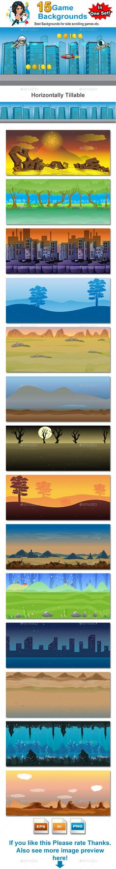 Game Backgrounds in one Set Download here: https://graphicriver.net/item/game-backgrounds-in-one-set/8790161?ref=KlitVogli