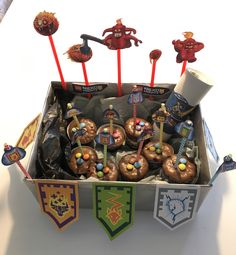 nexo knight birthday cupcake / muffins box