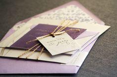 Graceful Botanic Floral Wedding Invitation shown in Lavendar, Eggplant and TaupeBuild-Your-Invite Collection - SAMPLE. $5.00, via Etsy.