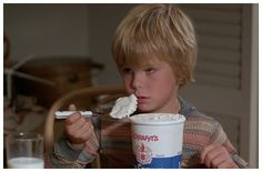 Kramer vs. Kramer has several beautiful scenes between Dustin Hoffman and Justin Henry, who plays his son. This one, a standoff over ice cream before dinner, is probably my favorite.