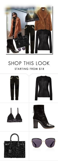 """I want to wrap up in a teddy bear coat!"" by onesweetthing ❤ liked on Polyvore featuring Forte Couture, DKNY, Humble Chic, Isabel Marant, Yves Saint Laurent and Prada"