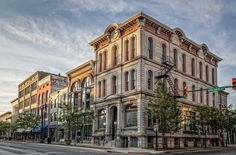 historical downtown images | architecture on Columbia Street in downtown Lafayette, Indiana