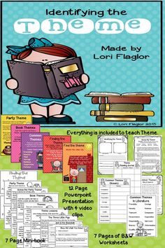 Teaching theme just got easier! Everything is included. 12 page Powerpoint presentation, 4 video clips, mini-book, and b&w worksheets. Check it out!