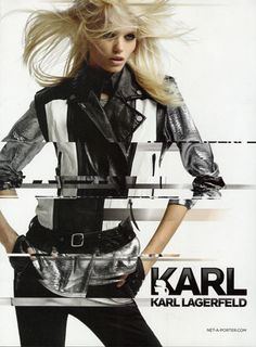 Abbey Lee Kershaw - KARL by Karl Lagerfeld - Spring/Summer 2012 Ready-to-Wear - Fashion Advertisement Fashion Brand, Fashion Models, Abbey Lee Kershaw, Daria Werbowy, Fashion Advertising, Photo Look, Karl Lagerfeld, Makeup Inspiration, Editorial Fashion