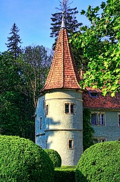 Schonborn Castle, near Mukachevo, West Ukraine.  Additional processing.
