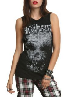 Black Veil Brides Skull Muscle Girls Top somebody buy this for me please