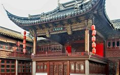 A traditional Chinese outdoor opera stage in Suzhou