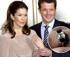 Future Princess Mary of Denmark at the announcement of her engagement to Frederik!