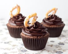 Chocolate Churro Cupcakes  by The Cupcake Connoisseur