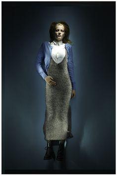handknit linen maxi dress