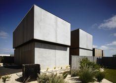 robustes küstenhaus beton holz australien