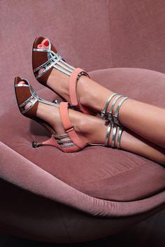 Sandales en cuir et veau velours #Prada. En exclusivité au Bon Marché. #leBonMarche #ss2016 #pe2016 #women #fashion