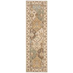 Nourison Modesto Beige Polypropylene Runner Rug (2'2 x 7'3) | Overstock.com Shopping - Great Deals on Nourison Runner Rugs