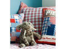 stoer geruite ledikant kussensloop 40x60cm Room Seven | kinderen-shop Kleine Zebra
