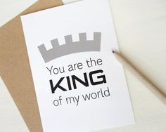Father's Day card You are the king of my world card by AvenirCards, $4.50