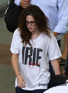 Kristen Stewart #specs I have this exact shirt. Got it 27 years ago on my honeymoon in Jamaica!  ❤