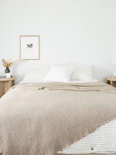 A Simple Master Bedroom Refresh Bedroom Design Inspiration, Interior Inspiration, Diy Fabric Headboard, Tongue And Groove Walls, Oak Nightstand, Interior Design Images, Dressing, Contemporary Bedroom, Bedroom Styles