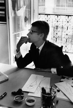 Yves Saint Laurent, Paris, 1964. Gelatin Silver Print © Marc Riboud, Courtesy of Peter Fetterman Gallery