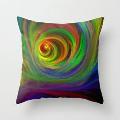 Madman's Sunrise Throw Pillow