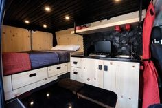 Native Campervans just introduced a new campervan called The Biggie! It's a 2016 ProMaster built out camper van for two with a queen-sized bed, full kitchen, fridge and big gear storage nook. Used Camping Gear, Camping First Aid Kit, Van Camping, Camping Tips, Camping Cabins, Camping Places, Family Camping, Cheap Campers, Coleman Camping Stove