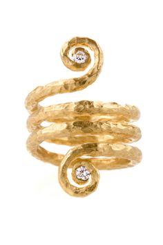 Pamela Froman - Arabesque Ring. 18K Gold with Diamonds. Los Angeles, California. Circa 2006.