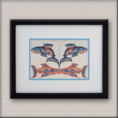 Stunning native art looks great when re-framed clean & pure because the lines are and shapes are very strong & clean & the colors are pure. Reframed as shown for Kim from Didsbury enjoying them daily. Native Art, Nativity, Looks Great, Illustration Art, Strong, Shapes, Pure Products, Colors, Frame