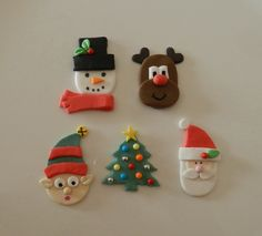 Christmas Edible Cupcake Toppers - by SugarandSpiceCupcakes on madeit