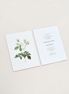 Andrea & Neil Wedding Invitation / Paper & Type. #weddinginvitation