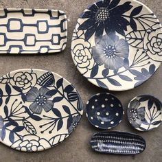 Fresh work for this weekends Expo. The Northwest Home Remodel Expo. Sgraffito, Pottery Painting, Ceramic Painting, Ceramic Clay, Ceramic Plates, Pottery Plates, Ceramic Pottery, Plate Art, Paperclay