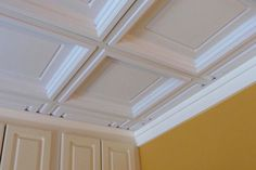 Oxford White Ceiling Tiles shine when subtlety is desired but boring just won't do. Their white finish is bright, pure, and easy to clean.