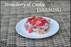 Delicious Strawberry and chocolate chip cookie tiramisu. Without alcohol! Great for kids