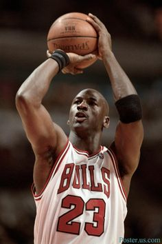 Michael Jordan-The greatest basketball player to play the game of basketball.