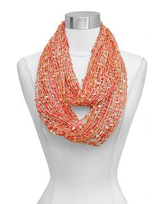 Sequined Kira Infinity Scarf in Golden Sunrise
