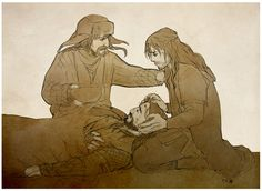"""Hold on, Uncle. You're going to be fine. Mr. Bofur?"" ""Yes?"" ""He will be alright, won't he?"""
