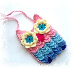 Crocodile stitch owl crochet mobile cover
