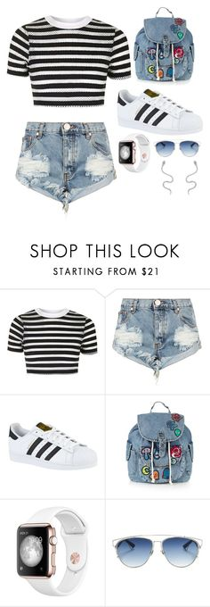 """""""Untitled #193"""" by flo-wer on Polyvore featuring Topshop, One Teaspoon, adidas, Christian Dior and BillyTheTree"""