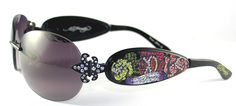 Ed Hardy EHS-014 Three Old School Roses Designers Sunglasses >>> Remarkable product available now. : Best Travel accessories for women