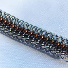 Dragonback chainmaille bracelet by PixieLinkz on Etsy