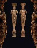 Lot No. 710 Pair of terracotta herms from the former Heinrichshof, Vienna 1861 – 1863 Renaissance, Gothic, Art Furniture, Vienna, Terracotta, Sculptures, Porcelain, Statue, Glass
