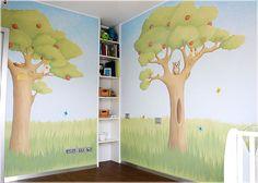 Stencil cameretta ~ Decorazioni per le pareti della cameretta dei bambini