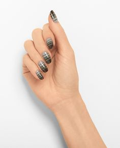 linear ombre - nail art by essie looks