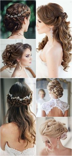 Lovely Wedding Hairstyles with Pretty Hairpieces / http://www.himisspuff.com/bridal-wedding-hairstyles-for-long-hair/20/