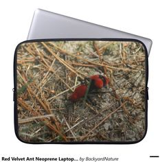 Red Velvet Ant Neoprene Laptop Sleeve. Computer Sleeves