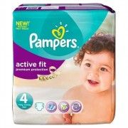 pack 52 couches pampers active fit 4 (7-18 kg) - 1001couches