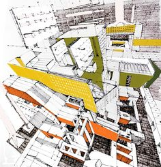 Lots of really great architectural drawings; realistic, abstract, and otherwise