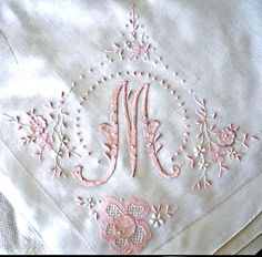 beautiful monogrammed linen ... via Gwen Milner on pinterest